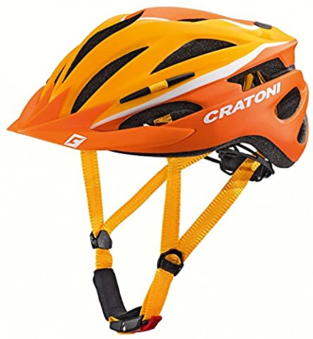 Cratoni Pacer Kinderhelm Fahrradhelm-Orange-White Größe (Kopfumfang):54-58 cm (Fahrradhelme Günstig)