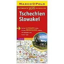 Marco Polo Autokarte plus Reiseguide Tschechien, Slowakei 1:650 000