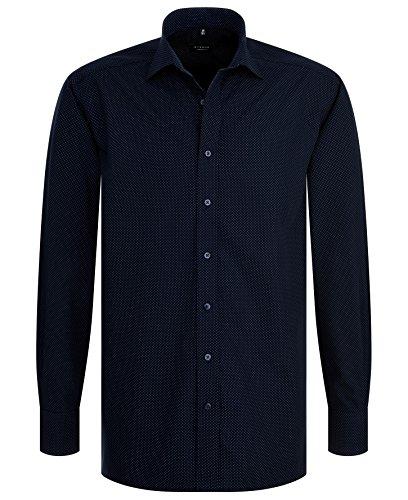 Eterna - Comfort Fit - Bügelleichtes Herren Langarm Hemd mit Kent Kragen in Dunkelblau (8869 E177) Blau (19)