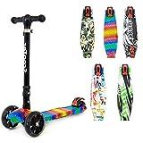 Kinder Scooter 3Rollen–faltbar und höhenverstellbar–mit blinkende LED-Lichter, Kinder, Crystal Rubix