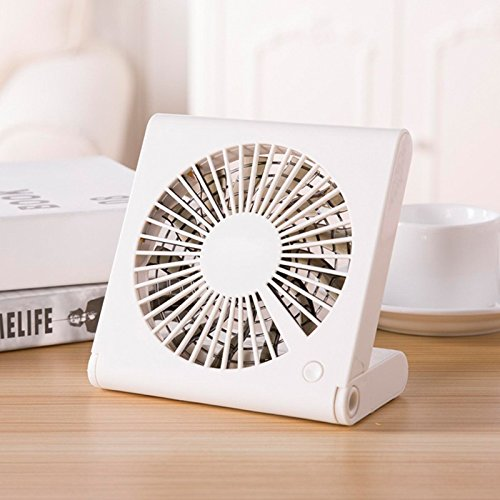 OMEu0026QIUMEI Usb Kleinen Ventilator Aufladbaren Tragbaren Student Tragbarer  Ventilator Schlafzimmer Erdgeschoss Büro Super Leise Weiß (2800 Ma)