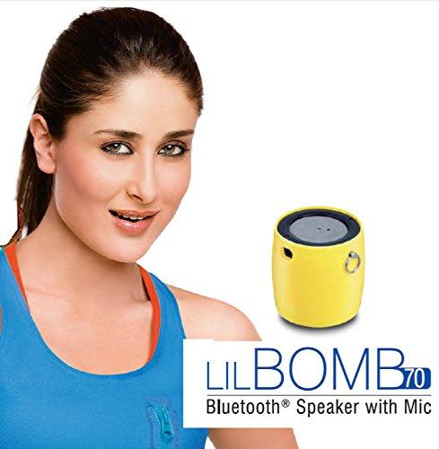 iBall LIL Bomb 70 Ultra Portable Bluetooth Speaker With Mic - Metallic Dark Silver