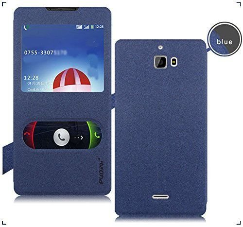 Febelo Pudini Perfect Fitting Video View Window Flip Case Cover for Micromax Canvas Nitro A311 / A310 / Coolpad Dazen 1 - Blue  available at amazon for Rs.399