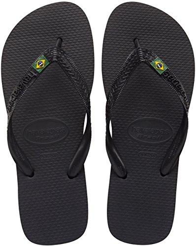 Havaianas Brasil Logo, Infradito Unisex – Adulto Black (Black 0090)