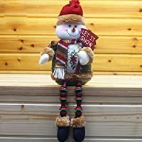 Covermason Christmas Decorations Santa Claus Sitting Porcelain Snowman Christmas Ornament (B)