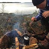 Lorenlli Camping Outdoor-Tasche unter faltbarem Feuerwerkzeug Survival Punch Fire Multi-Werkzeug