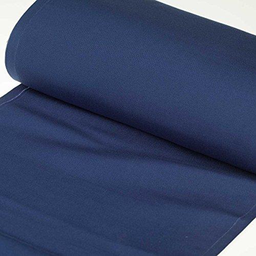 Tissu toile d'extérieur transat - Largeur 43cm - Bleu marine - PAR 50CM