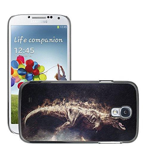 Premium Slim Polycarbonate Aluminium Cassa del telefono Custodia Case Bandiera Cover Armor // M00053071 dino reptile t-rex king animal t // Samsung S4 i9500 - Accessori Per La T-rex Reptile