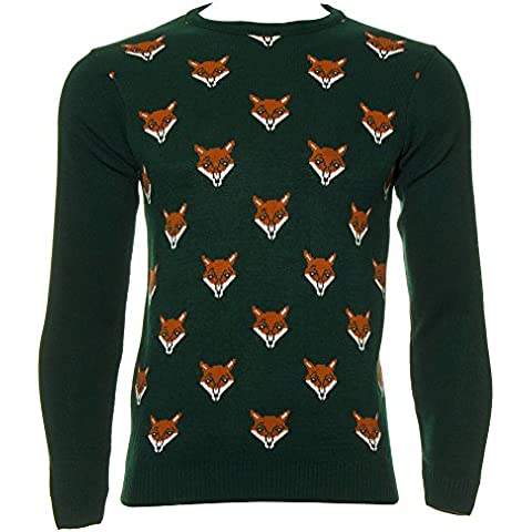 Maglione Foxes Faces Run & Fly (Verde)