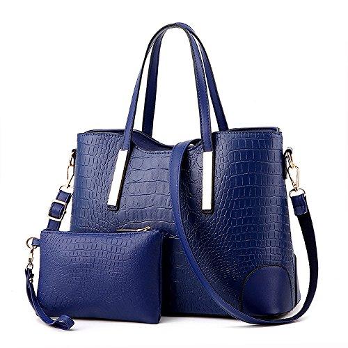 EssVita Sac à main femme en PU cuir pour femme Sac à bandoulière Bleu