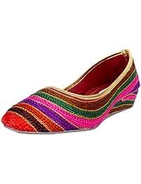 Thari Choice Multicolored Wedges Heel Sandal