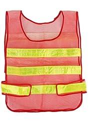 Bandas Reflectantes De Alta Seguridad Chaleco Chaleco De La Visibilidad Magideal Malla Roja