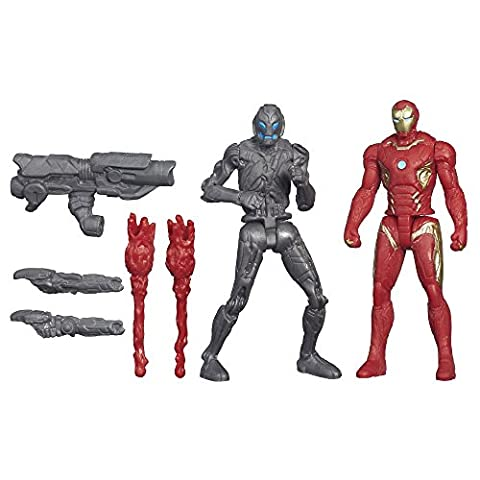 Marvel – Avengers: Age of Ultron – Iron Man Mark 45 Vs. Sub-Ultron 010 – 2 Figurines 6 cm
