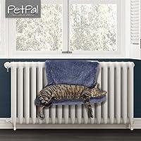 Heizkörperliege von PetPäl | Kuscheliger Katzenschlafplatz für die Heizung | DAS Perfekte Katzenbett mit Liegemulde für die Katze | Heizungshängematte - Der Warme Schlafplatz für Katzen | Einfach an Heizkörper hängen