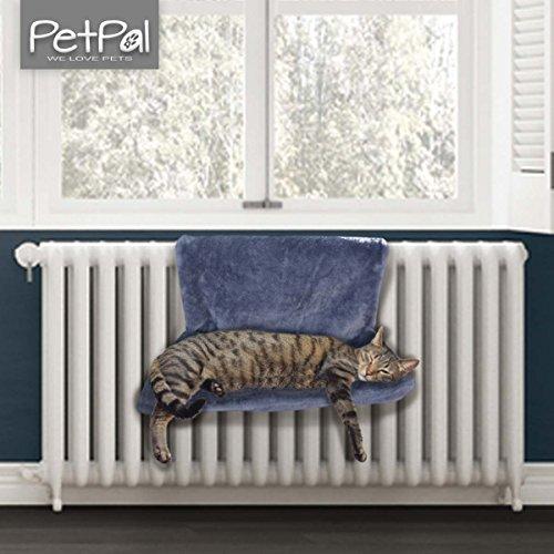Heizkörperliege von PetPäl | Idealer kuscheliger Katzenschlafplatz | Das Katzenbett für die Heizung | Perfekte Liegemulde für die Katze | Katzen Heizungshängematte |Einfach an Heizkörper hängen