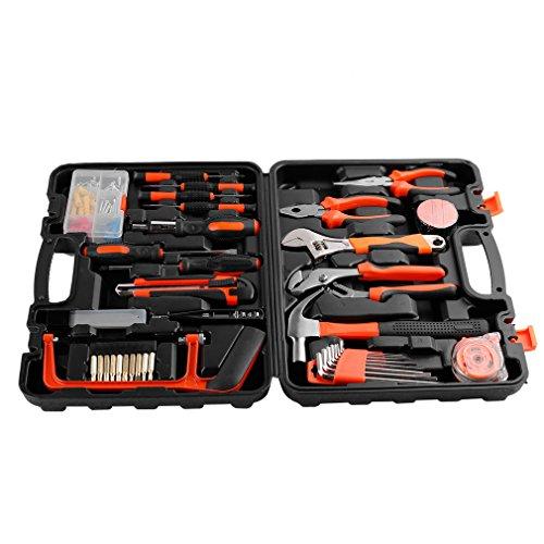 Preisvergleich Produktbild ICOCO 100-teiliger Premium Universal und Haushalts Werkzeugkoffer, Werkzeug Set (Schlagwerkzeug, Schraubendrehersatz, Zangensatz, Bandmass, Schrauben, ect)