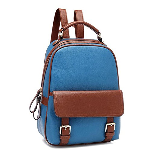 PU Tracolla In Pelle Borsa Zaino Ladies Fashion Zaino Blue