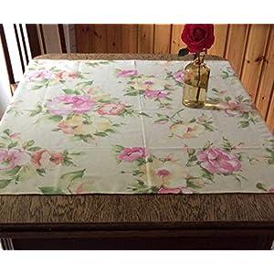 Tischdecke Rosen, Geschenkidee, handmade deutschland, Sommer, Frühling, Rosendekor, Wohnidee, Geschenke für Sie