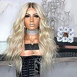 Frauen Langes Lockiges Haar Blonde Perücke Natürliche Hitzebeständige Hohe Qualität Cosplay Perücke