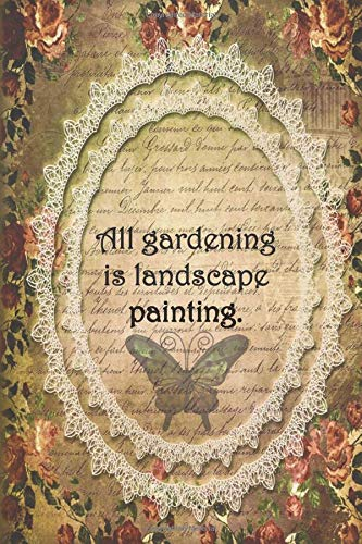 All gardening  is landscape painting.: Dot Grid Paper - Kids Garden Hoe
