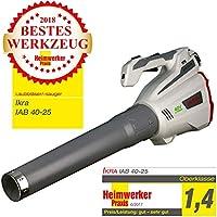 IKRA Akku Laubbläser IAB 40-25 Blasgeschwindigkeit max. 320 km/h 40V Lithium-Ion Laufzeit max 60 Min ergonomisch