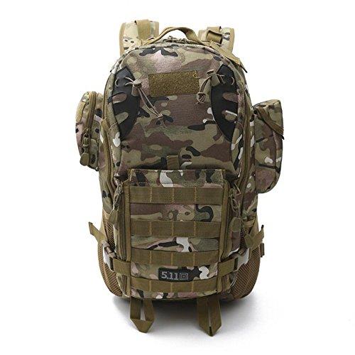 YYY-All'aria aperta camuffamento zaino alpinismo multifunzionale mimetica zaino militare fan computer borsa , 4 6