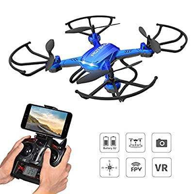 Drone with HD Camera, Potensic F181WH Wireless RC Quadcopter Drone RTF Altitude Hold UFO with Newest Hover and 3D Flips Function, 2.0 Megapixels WiFi HD Camera