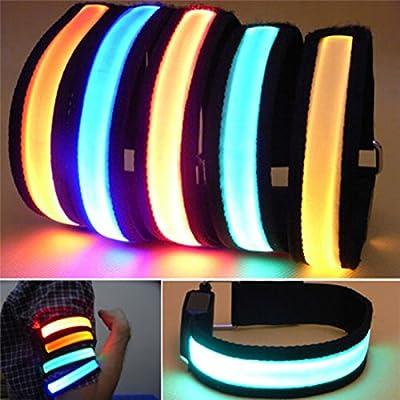 OSHIDE® LED Sicherheit Reflektor Armband Reflektorband Sicherheitsband Leuchte Nacht Licht für Jogger Joggen Radfahren