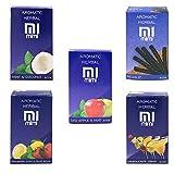 Hibron - 5sacchetti da 50g di tabacco per narghilè, senza nicotina, gusti assortiti (limone e menta, menta, cola, mojito, bevanda energetica)