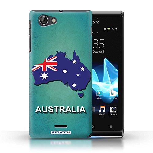Kobalt® Imprimé Etui / Coque pour Sony Xperia J (ST26i) / Brésil conception / Série Drapeau Pays Australie