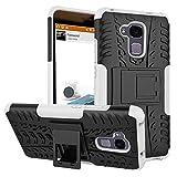 SMTR Huawei Honor 5C (5.2') cas de téléphone, Double Couche Cover Antichoc Case Résistant aux chocs Goutte à l'épreuve Cas de Téléphone Portable Avec Béquille Etui Housse pour Huawei Honor 5C smartphone(Huawei Honor 5C,blanc)