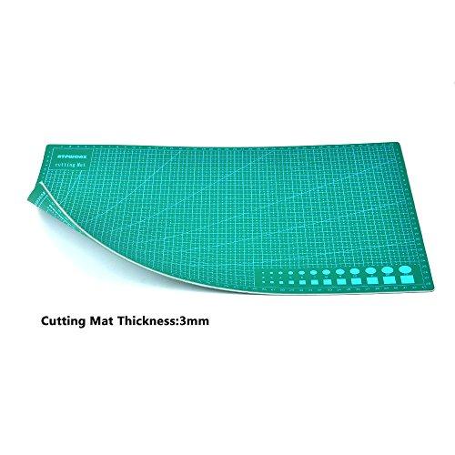 ATPWONZ A3 Alfombrilla de Corte Multifuncional   5 Capas de Sándwich Núcleo PVC Superficie de Autocuración Corte Doble Cara Impresión 30 x 45 cm (Verde)