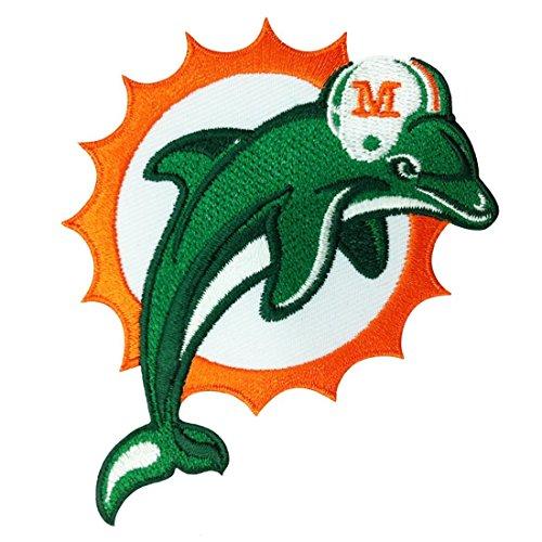 und orange bestickt abzeichen Patch Aufnäher oder zum Aufbügeln 9cm (Miami Heat-hüte)