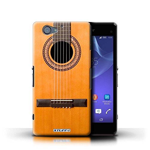 Kobalt® Imprimé Etui / Coque pour Sony Xperia A2 / Rouge Electrique conception / Série Guitare Acoustique en Bois