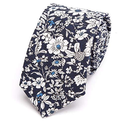 Zjuki Krawatte Herren Krawatte Baumwolle Blume Krawatte 6 cm Mode Männer Hochzeit Parteien Kleid Druck Krawatte gravatas homens Shirt Bowtie corbatas para Hombre B