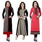 #9: Pramukh Fashion New Semistichead pack of 3 kurtis combo