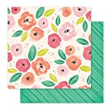 American Crafts Pink Paislee Papel Fancy
