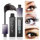 4D Mascara Schwarz – Vegan Wimperntusche Mascara für Empfindliche Augen, mit Verlängerung & Volumen Effekt, Intensive Lange Natürliche Wimpern