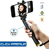 Xtra Prime Selfie Stick, Extendable Bluetooth Monopod with Built-in Shutter & Adjustable Phone Holder for iPhone 7/7+ /Se/6s/6/6 Plus, Samsung Galaxy