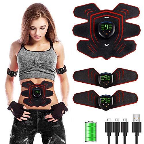 er Toner, USB Wiederaufladbar Abs Stimulator, Tragbar Fitness Massage Trainingsgerät 6 Modi Und 10 Ebenen-a ()