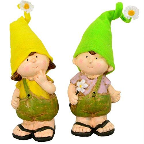 Gartenzwerge Junge & Mädchen 25cm