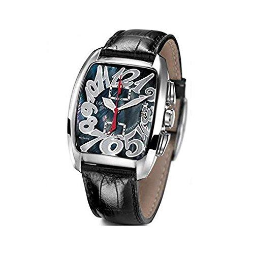 Montre Locman 487N00mknwh0psk unisexe quartz (Batterie) acier Quandrante Noir Bracelet Cuir