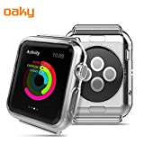 #10: Oaky - Apple Watch 38mm Series 3 Case[Lightweight Fit] Soft TPU Candy Skin [Anti-Shock] Transparent Ultra-Thin Bumper Case Cover Compatible with Apple Watch 38mm, Apple Watch 3 Case Soft TPU Bumper Scratch Resistant Protector Cover for iWatch 38mm Series 3 Clear (38mm S3)