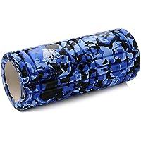 meteor® Masaje rodillo rodillo de espuma Foam Roller Fitness Masaje para gimnasia EVA Regeneración y rendimiento para su uso en casa, oficina o Viajes., azul