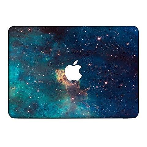 Weltraum 10123, Sterne, Skin-Aufkleber Folie Sticker Laptop Vinyl Designfolie Decal mit Ledernachbildung Laminat und Farbig Design für Apple MacBook Air