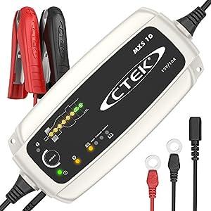 CTEK MXS 10 – Vollautomatisches Batterieladegerät (Grundladung, Erneuerung, Erhaltungsladung von grösseren Auto-, Caravan, Boot-, Wohnmobil-Batterien) 12V, 10 A – EU Stecker