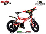 Cicli Puzone Bici 14 Bimbo Rosso Dino Bikes Art. 143 GLN PRO Cross