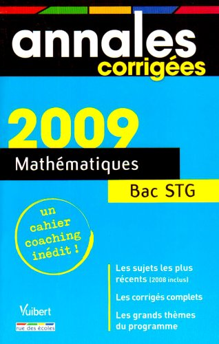 Mathématiques Bac STG