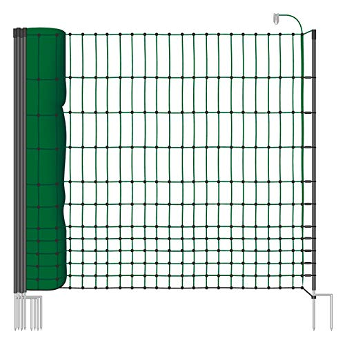 Filet volaille VOSS.farming farmNET 25 m H : 112 cm 9 piquets double pointe clôture électrique