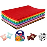 Harxin Feltro in Fogli, 40 Colori Feltro e Pannolenci Fogli Colorati Lavoretti di Cucito Bricolage Tessuto Patchwork 20 * 30
